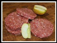 4 Pork & Apple Burgers